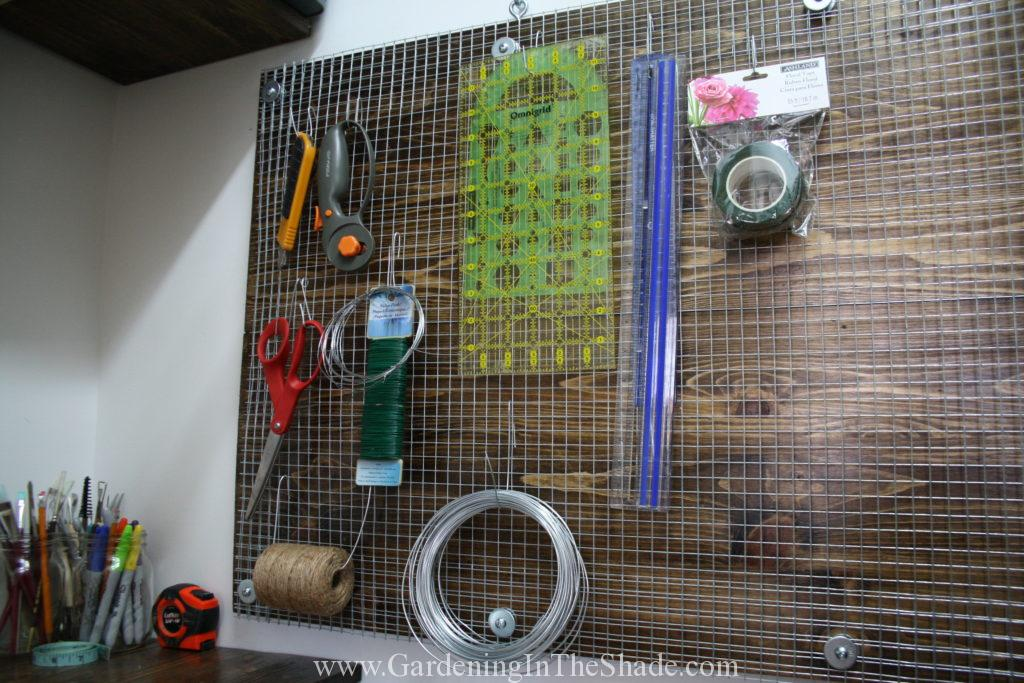 Diy pegboard for craft room storage gardening in the shade for Diy pegboard craft organizer